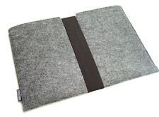 Dell XPS 15 felt laptop sleeve case wallet WITH STRAP - UK MADE, PERFECT FIT!