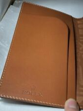 Rolex Long Wallet No Coin Purse More Cards Novelty Brown Accessories