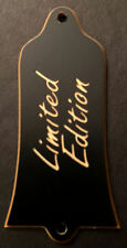 Engraved Etched GUITAR TRUSS ROD COVER - Fit GIBSON - LIMITED EDITION Black Gold