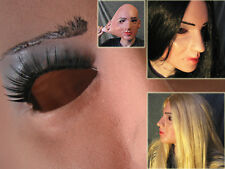 Latex Mask LADY +LASHES - Real. Female Girl Rubber Face Sharon Crossdresser Doll