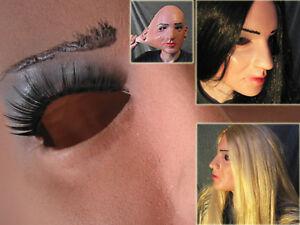 Latex Mask JENNY +LASHES Real. Female Girl Rubber Face Sharon Crossdresser Doll