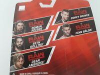WWE Mattel Series 77 Figures-Reigns,Ambrose,Rollins,Finn Balor, Corey Graves
