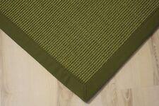 Sisal Teppich Manaus mit Bordüre grün 200x250 cm 100% Sisal