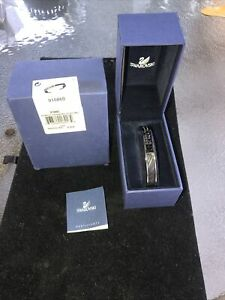 Swarovski Black Bangle Bracelet - NIB - WITH STONES