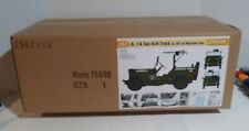 Dragon Models 1/6 scale kit 75050, U.S. 1/4 ton 4x4 truck w/.30cal. Machine gun.
