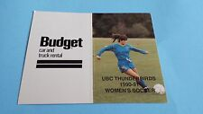 1990/91 CIAU/CIS/USPORTS WOMEN'S SOCCER UBC THUNDERBIRDS POCKET SCHEDULE