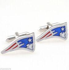 New England Patriots NFL Stainless Steel Dress Shirt 1 Pair Cufflinks USA Seller