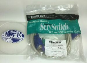 LOT 4 6FT 1.8M BLACK BOX EHN70001-0006 SERVSWITCH DT AND EC PS/2 CPU CABLE