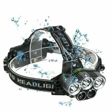 Headlamp Rechargeable Headlight Flashlight Head Torch Super 100000LM 5X T6 LED