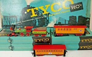 TYCO MANTUA 4-4-0 TYCO 4-4-0 GENERAL TYCO SET T-8  TYCO W&ARR OLD TIME PASSENGER