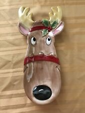 Fitz & Floyd Rudolph Serving Tray - Snack Therapy -13 1/2� X 5�