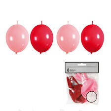Ketten Luftballons, rot, 8 Stk. - Girlande Deko Kindergeburtstag Karneval Faschi