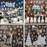 Christmas White Snowflake Xmas Tree Vinyl Art Sticker Decals Window Xmas Decor