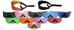 Leather Dog Collar Padded Suede Backing Greyhound Whippet Hound Martingale D1