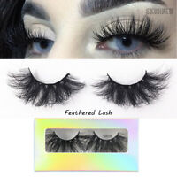 SKONHED 25MM 3D 100%Mink Hair False Eyelashes  Wispies Fluffy Lashes