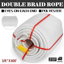 3/8 600Anchor Rope Dock Line Climbing 1200Lbs Nylon Double Braid
