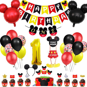 Danirora Mickey Mouse Party Decorations 1st Birthday, Mickey Mouse Birthday for