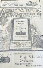 Freckles, Hugo Schmidt's Orchestra Auditorium Theater Spokane Program c.1910's