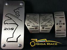 peugeot 208 pedali pedana poggiapiede pedaliera kit sportivo tuning auto acciaio