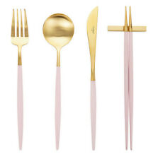 Cutipol Goa Pink Gold Dinner Cutlery Set 4p Free Shipping