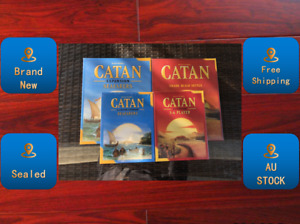 CATAN Board Game Base & Seafarers & 5-6 Players Extension New & Sealed AU STOCK