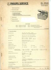 PHILIPS Service Manual EL3522  Tonbandgerät  1960