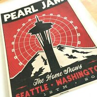 Pearl Jam Seattle Streaming Poster Wood Wooden Ian Williams