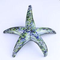 Hand Blown Glass Starfish Aquarium Art Paperweight Handmade Valentine Gifts