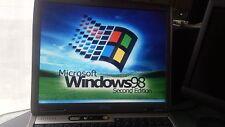 Windows 98SE Ordinateur Portable Dell Latitude D600-pour le jeu, héritage pograms, broderie