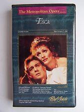 The Metropolitan Opera Presents: Tosca VHS Video Tape