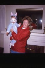MOTHER HOLDING BABY IN BUNNY OUTFIT WITH MASK 1969 35mm PHOTO SLIDE