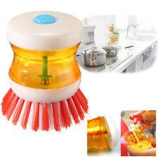 1 Pcs Kitchen Wash Tool Pot Dish Brush with Washing Up Liquid Soap Dispenser