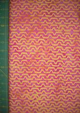 AvLyn Pink/Yellow Zig Zag BATIK QUILT FABRIC