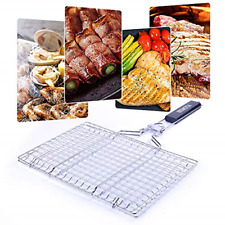 Bbq Grill Accessories Stainless Steel Barbecue Grilling Basket Removable Handle