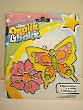 Butterfly with Flower Makit & Bakit Suncatcher Kit Childrens Crafts NEW