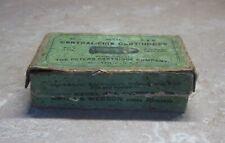 Antique 38 Caliber Bullet Cartridge Advertising Empty Box