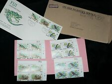 Vintage Stamps Fiji Endangered Species Australia First Day Issue Set 4 per sheet