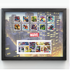 More details for new marvel superheroes framed royal mail® collectable stamps - stamps and comic