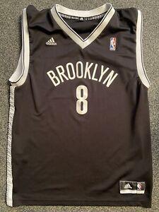 MENS ADIDAS BLACK NBA BROOKLYN WILLIAMS No 8 BASKETBALL JERSEY UK M US M