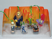 Disney Zootopia 6pc Christmas Ornaments Figure Set Judy Hopps Nick Wilde NEW