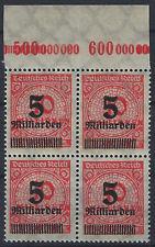 MiNr. 334AP OPD Hamburg im 4er vom Plattenoberrand B mit Handbuchplattenf. PE11