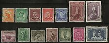 Australia   1937-46   Scott #166-179    Mint Never Hinged - Hinged Set