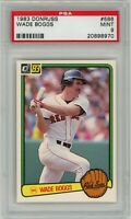 WADE BOGGS 1983 Donruss #586 RC Rookie (Red Sox) HOF PSA 9 MINT (Old Label)