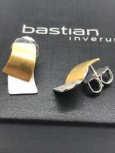 BASTIAN INVERUN Ohrstecker 925er Sterling Silber / teilvergoldet NEU! Ohrringe