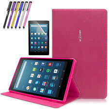 """Folio Leather Smart Cover Case Stand For Amazon Kindle Fire HD 8"""" 6 7th 8th Gen"""