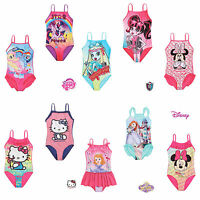 New Girls Official Character Swimming Costume Swimsuit Swimwear Age 2-12 Years