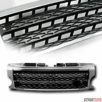 Chrome/Black Sport Mesh Front Hood Grille For 05-09 Land Rover Lr3 Discovery 3
