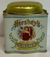 VINTAGE HERSHEYS COCOA Bristol Ware TIN Empty Container with Lid