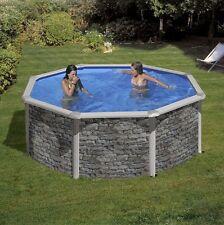 Aqua World Above Ground Stone Effect Swimming Pool, 2.4m x 1.2m Round