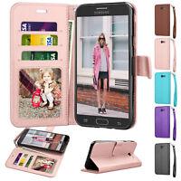 For Samsung Galaxy J3 Luna Pro / J3 Emerge/Mission / SM-J327A Leather Case Cover